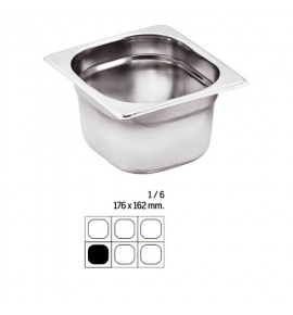 Stainless Steel 1/6 Gastronorm Container