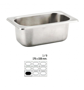 Stainless Steel 1/9 Gastronorm Container