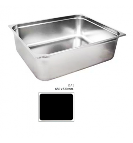 Stainless Steel 2/1 Gastronorm Container