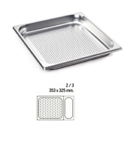 Stainless Steel 2/3 Perforated Gastronorm Container