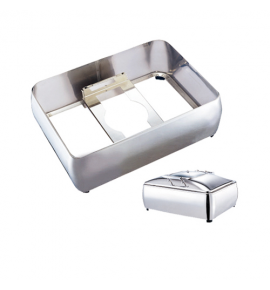 Stainless Steel Enclosed Stand for Deluxe Rectangular Chafer