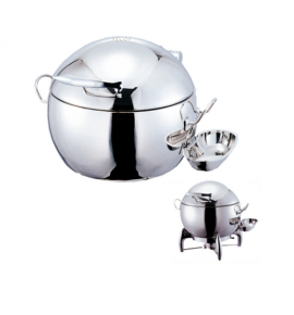 Stainless Steel Deluxe Round Dome Chafer with Stainless Steel Lid complete with Detachable Spoon Holder
