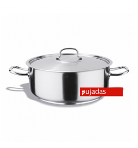 Stainless Steel Casserole with Sandwich Bottom and Lid