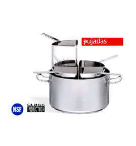Stainless Steel Casserole Set complete with 4 Pasta Colanders