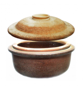 Clay Curry Pot Cover without Glaze