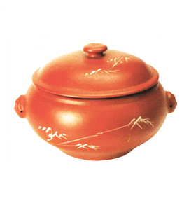 Clay Lion Head Herbal Steam Casserole with Cover