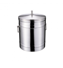 Stainless Steel Insulated Ice Bucket with Lid and Ring Handles