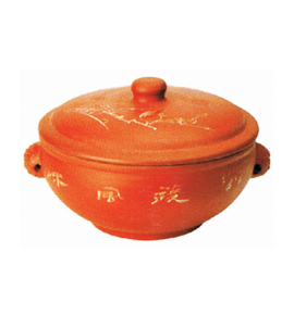 Clay Herbal Steam Casserole with Stem