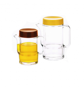 Acrylic Soya Sauce Pot with Plastic Screw-On Lid