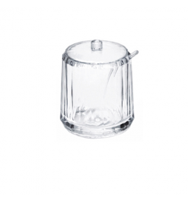 Acrylic Condiment Jar with Lid and Spoon