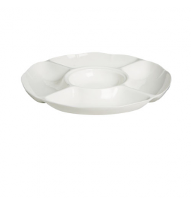Imperial White Divided Round Plate