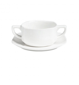 Square Coupe Soup Cup & Saucer